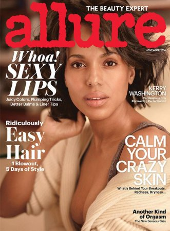 Kerry Washington covers Allure sans makeup