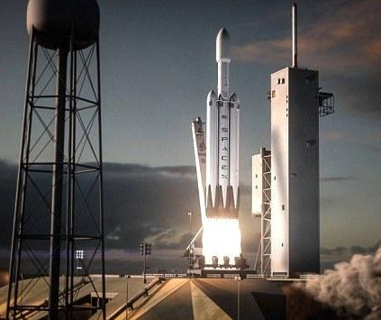 SpaceX releases animation of heavy-lift Falcon rocket