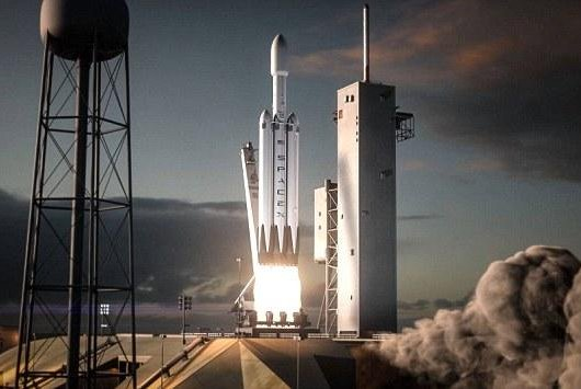falcon heavy rocket blasts off in new spacex animated video. Black Bedroom Furniture Sets. Home Design Ideas