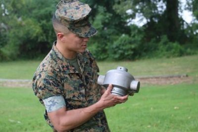 Marines 3D-print headcap for mine clearing line charge