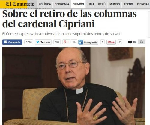 Peruvian newspaper cuts archbishop for plagiarizing popes