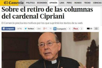 Peruvian newspaper cuts archbishop for plagiarizing popes