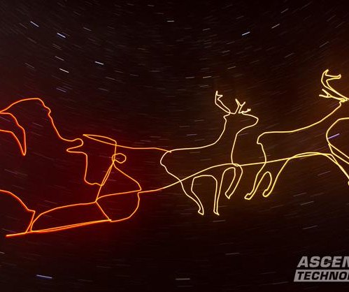 Company presents world's first 'drone light painting' video
