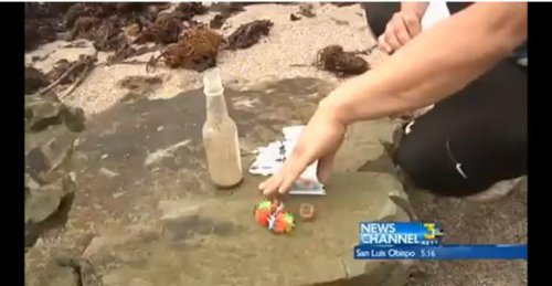 Bottled birthday invite from Maui found on Calif. beach