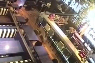 Watch:-Deer-runs-through-bar-in-Argentina