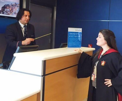 American Airlines employee passes as Severus Snape