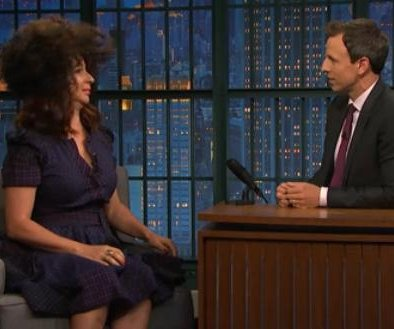 Maya Rudolph impersonates Rachel Dolezal on 'Late Night with Seth Meyers'