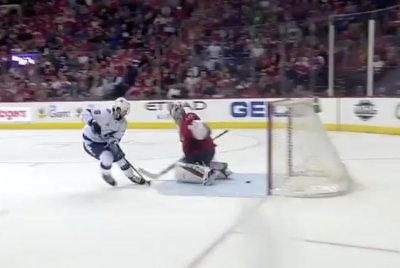 Lightning's Kurcherov five-holes Holtby with same move from All-Star Game