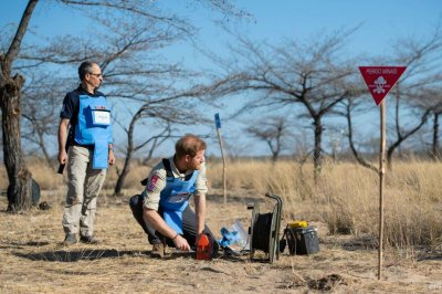 Prince Harry's walk in Angola minefield mirrors mother's 1997 visit