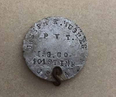 Missing 100-year-old dog tag returned to veteran's family