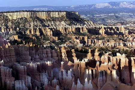 Sandstone pillars and arches formed by stress, not just erosion
