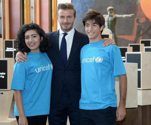 David Beckham gets emotional during U.N. speech to help children