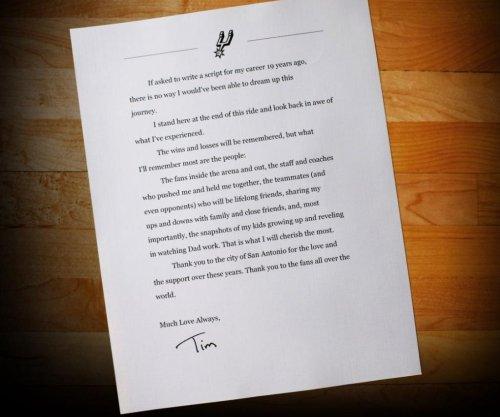 Read Tim Duncan's heartfelt farewell letter
