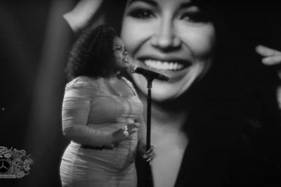 Amber Riley performs 'A Moment' in memory of Naya Rivera