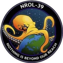 NRO uses Earth-devouring octopus logo for latest classified satellite launch