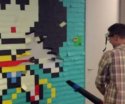 Office's Post-It super heroes cleared using leaf blower