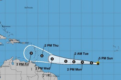 Tropical Storm Kirk accelerating over Atlantic; Leslie to dissipate