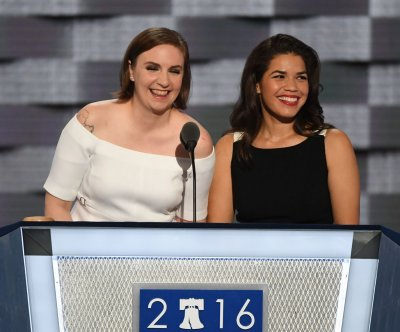 Lena Dunham, America Ferrera take aim at Donald Trump, declare 'We're with Hillary' at DNC