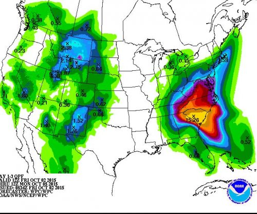 Unprecedented rainfall forecast on U.S. East Coast