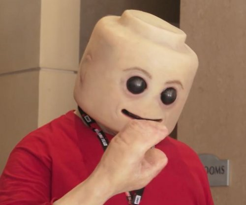 Man creates Lego figure costume with human-like skin