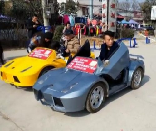 Grandpa builds miniature electric Lamborghinis for grandson