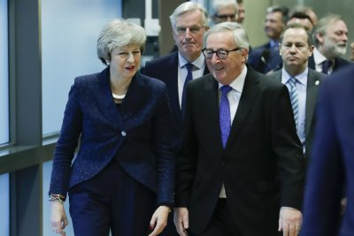 May, EU chief signal 'constructive' talks in effort to tweak Brexit deal