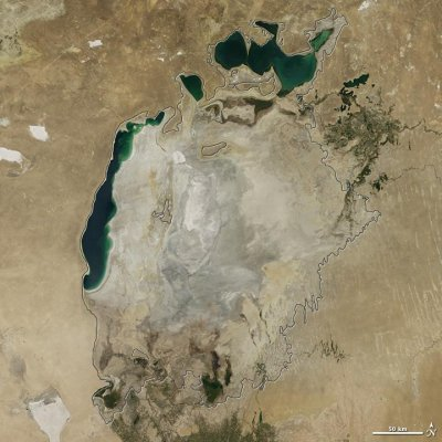 NASA photos show Aral Sea is now just a sliver