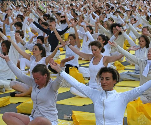 World celebrates first International Day of Yoga
