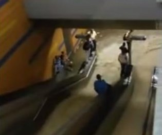 Flood waters rush into Venezuelan subway station in viral video