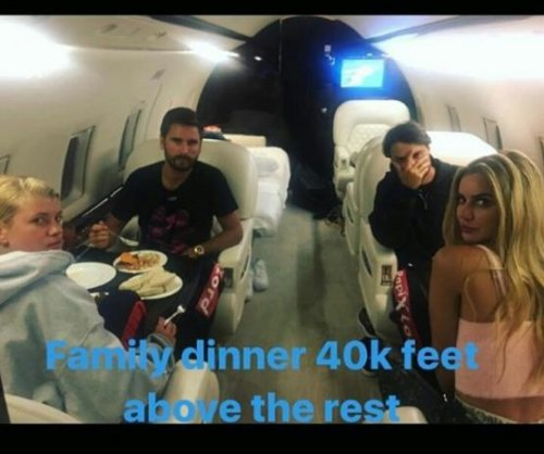 Scott Disick, Sofia Richie enjoy 'family dinner' on private plane
