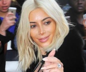 Kim Kardashian debuts lighter platinum blonde hair in Paris