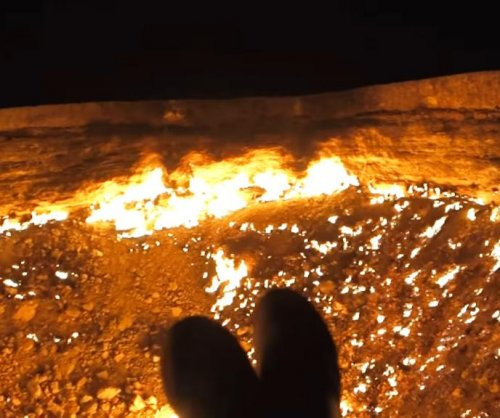 Adventurer camps out by Turkmenistan's fiery 'Door to Hell'