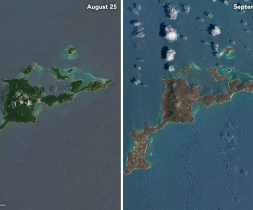 Satellite images show devastation in Caribbean