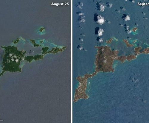 Satellite images show devastation in Caribbean