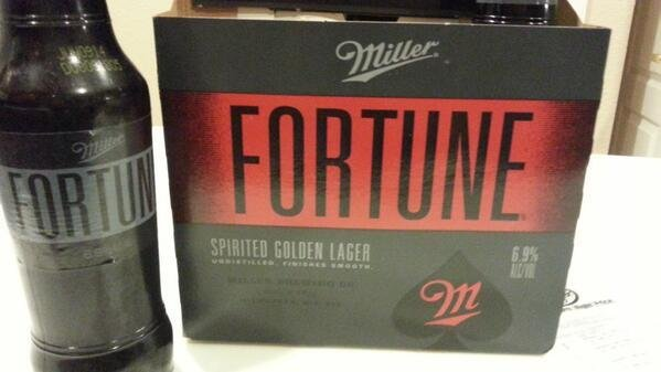 Miller Fortune beer, at 6 9 percent alcohol, is marketed at