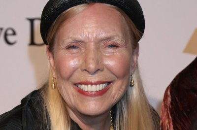Joni Mitchell speaking weeks after suffering aneurysm