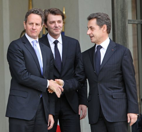 Geithner to press Sarkozy to end crisis