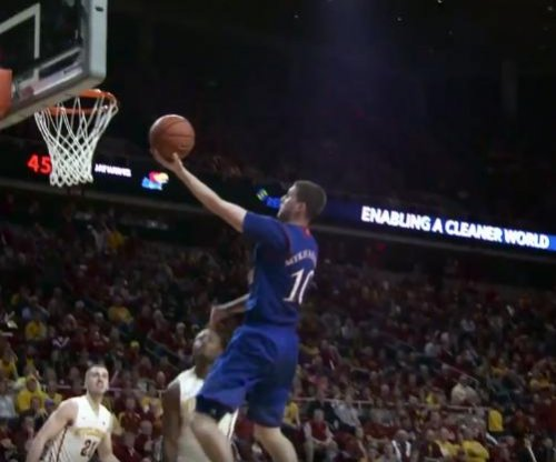 No. 2 Kansas survives at Iowa State