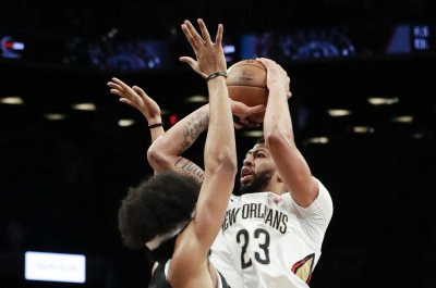 Nets' Jarrett Allen blocks Pelicans' Anthony Davis twice