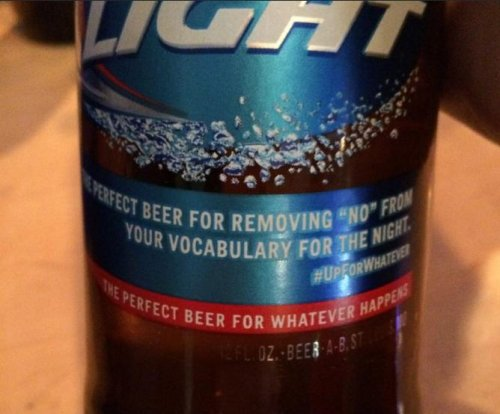 Bud Light apologizes for label accused of encouraging rape culture