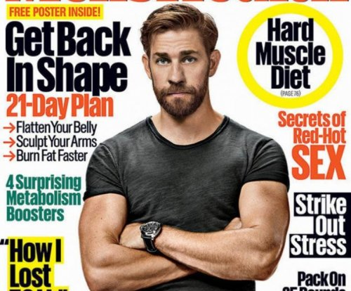 John Krasinski shows off buff physique for Men's Health