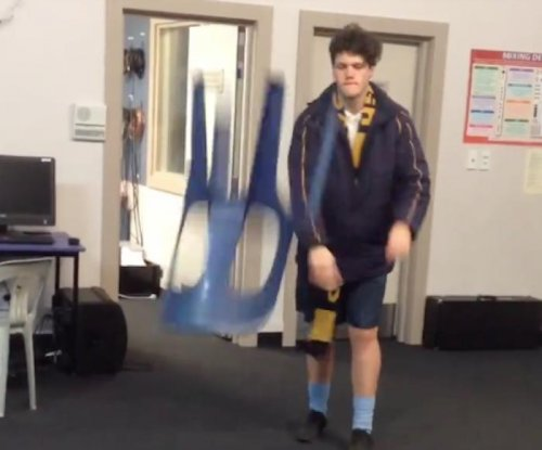 New Zealand students impress with 'chair flipping' skills