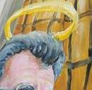 Paterno's halo in mural painted over