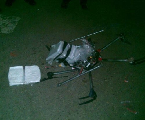 Crashed drone with 6 pounds of meth found in border town