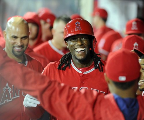 Cameron Maybin's pinch-hit single lifts Los Angeles Angels over Baltimore Orioles
