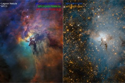 Hubble serves up two views of Lagoon Nebula