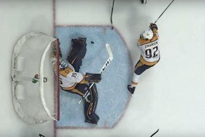 Nashville Predators goalie Pekka Rinne stonewalls Dallas Stars' Jamie Benn