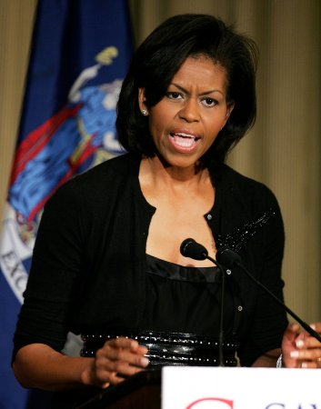 Michelle Obama keys on working families