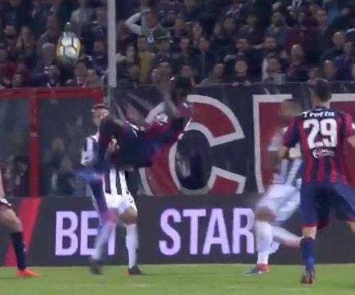 Crotone's Simy beats Juventus with stunning bicycle kick