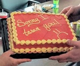 Police officer apologizes with 'sorry I tased you' cake